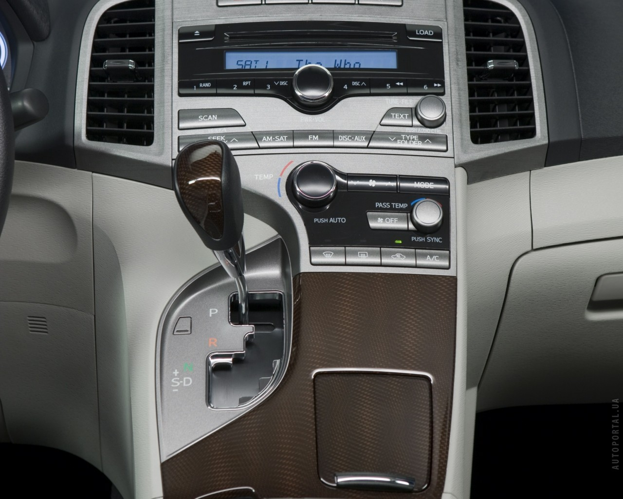 2012 Toyota Venza Middle Console.